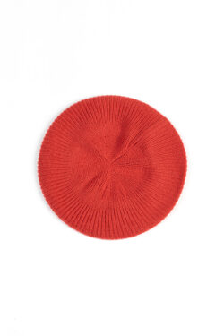 Paychi Guh | Beret, Persimmon, 100% Cashmere