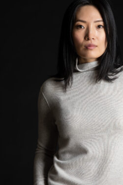 Paychi Guh | Cozy Luxe Funnel, Snow Grey, 100% Baby Cashmere