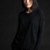 Paychi Guh | Relaxed Luxe Crew, Black, 100% Baby Cashmere