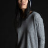 Paychi Guh   Relaxed Luxe Crew, Husky Grey, 100% Baby Cashmere