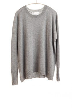 Paychi Guh | Relaxed Luxe Crew, Husky Grey, 100% Baby Cashmere