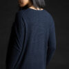 Paychi Guh   Relaxed Luxe Crew, Navy, 100% Baby Cashmere