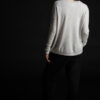 Paychi Guh | Relaxed Luxe Crew, Snow Grey, 100% Baby Cashmere