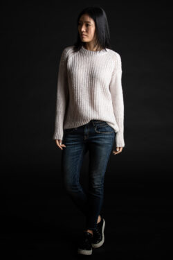 Paychi Guh | Double Dreamy Crew, Lavender/Mist, 100% Dreamy Cashmere