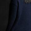Paychi Guh | Double Dreamy Crew, Navy/Black, 100% Dreamy Cashmere