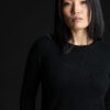 Paychi Guh | Cozy Luxe Crew, Black, 100% Baby Cashmere