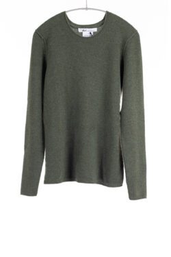 Paychi Guh | Cozy Luxe Crew, Moss, 100% Baby Cashmere