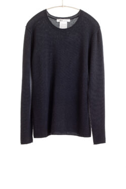 Paychi Guh | Cozy Luxe Crew, Navy, 100% Baby Cashmere