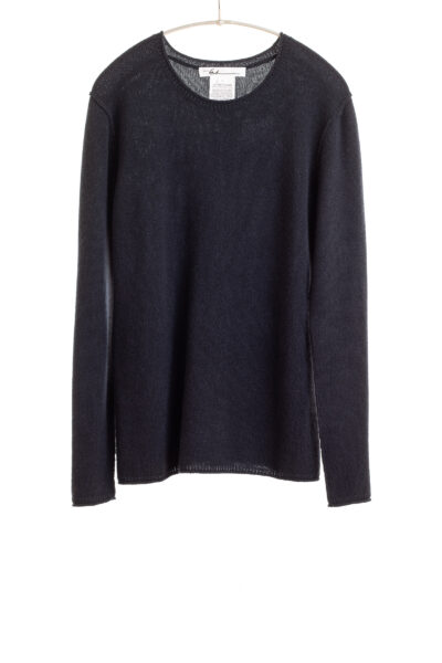 Paychi Guh   Cozy Luxe Crew, Navy, 100% Baby Cashmere